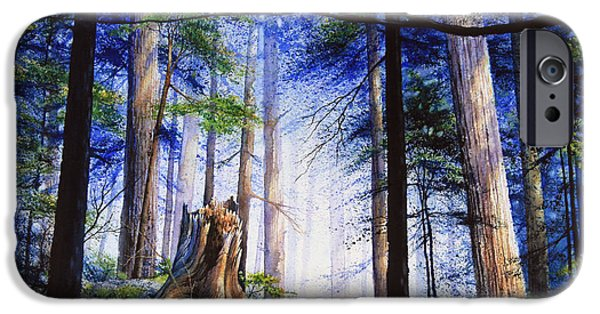Forest iPhone Cases - Mystic Forest Majesty iPhone Case by Hanne Lore Koehler