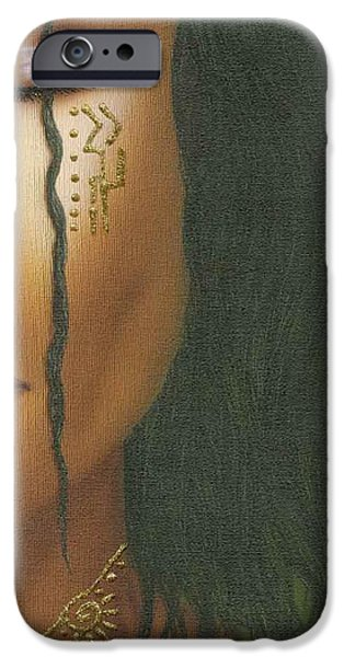 Beauty Mark Paintings iPhone Cases - Mystic Lady iPhone Case by Fred Odle