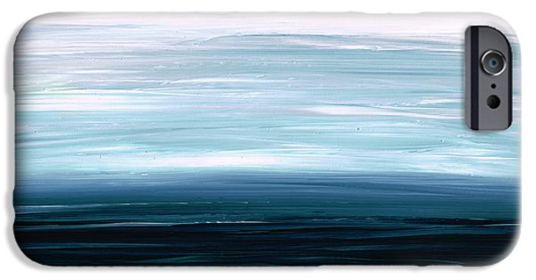Fine Art Abstract iPhone Cases - Mystic Shore iPhone Case by Sharon Cummings