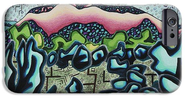 Mystical Landscape Mixed Media iPhone Cases - Mystic soul portrait iPhone Case by Dale Beckman