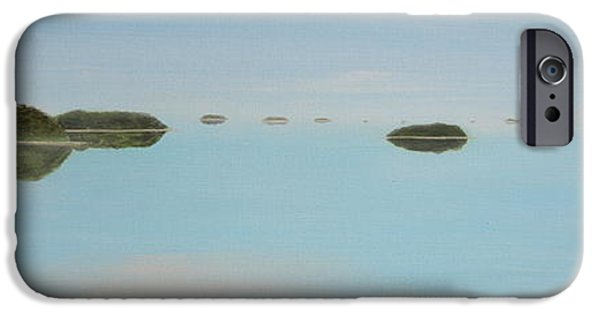 Concept Paintings iPhone Cases - Mystical Islands iPhone Case by Tim Mullaney