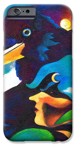 Crows iPhone Cases - Mystical Journey iPhone Case by Deanna Yildiz