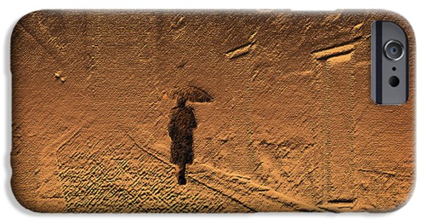 Inner Self iPhone Cases - Mystical Journey of the Shadow of Your Soul in Extraneous World iPhone Case by Jenny Rainbow