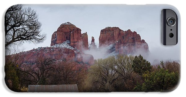 Cathedral Rock iPhone Cases - Mystical iPhone Case by Tamara Becker