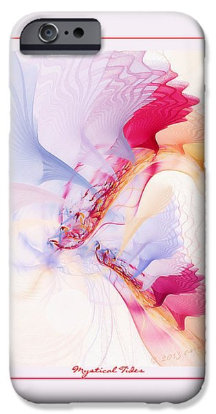 Digital Fine Pastels iPhone Cases - Mystical Tides iPhone Case by Gayle Odsather
