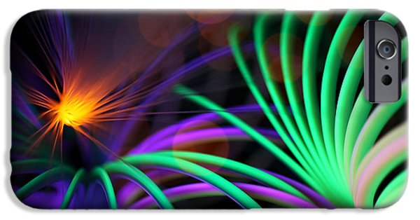 Abstract Digital Art iPhone Cases - Mystify iPhone Case by Dazzle Zazz