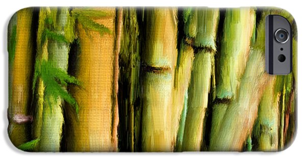 Bamboo Leaves iPhone Cases - Mystique Beauty- Bamboo Artwork iPhone Case by Lourry Legarde