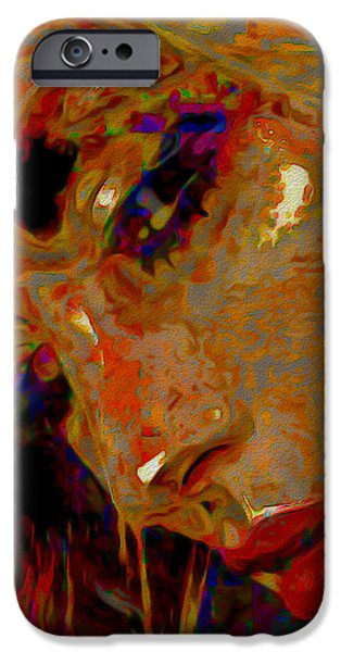 Gray Hair Digital Art iPhone Cases - Mystique iPhone Case by  Fli Art