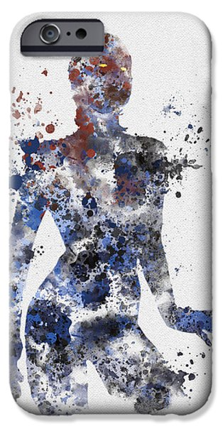 X Men iPhone Cases - Mystique iPhone Case by Rebecca Jenkins