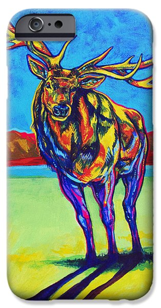 Harts iPhone Cases - Mythical Elk iPhone Case by Derrick Higgins