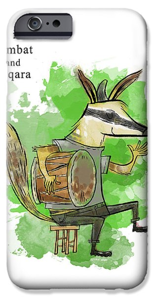 Animal Alphabet iPhone Cases - N is for Numbat iPhone Case by Sean Hagan