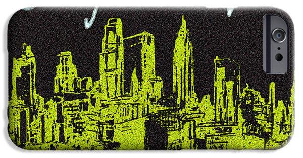 East Village Digital iPhone Cases - N Y C Manhattan Skyline iPhone Case by Paul Sutcliffe