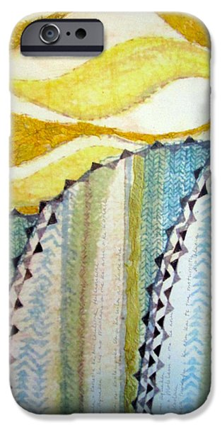Tribal Tapestries - Textiles iPhone Cases - Na Koolau iPhone Case by Dalani Tanahy