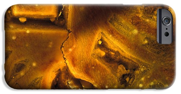 Macro Mixed Media iPhone Cases - NA Nineteen iPhone Case by Kika Pierides