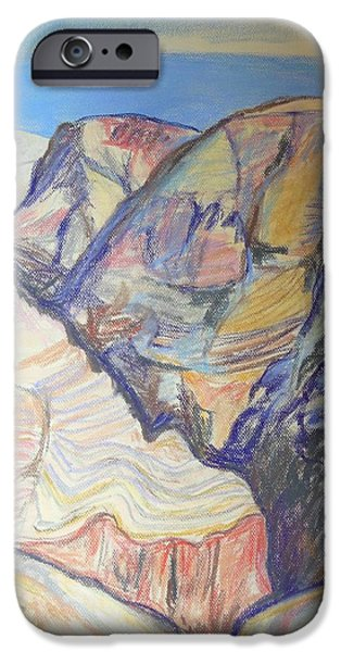 Pastel iPhone Cases - Nachal Darga Canyon iPhone Case by Esther Newman-Cohen