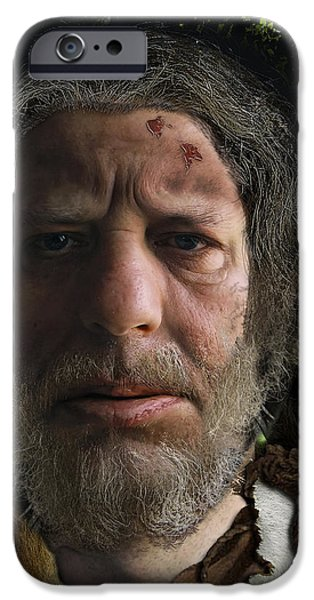 Incarnation iPhone Cases - Nafets Neandertal iPhone Case by Nafets Nuarb