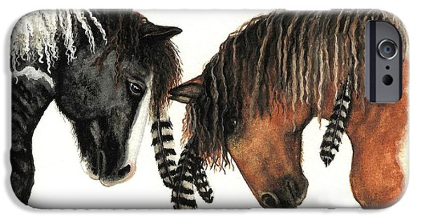 Majestic iPhone Cases - Mustang Series 37 iPhone Case by AmyLyn Bihrle