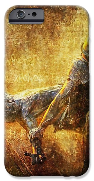 Nailed to the Cross Via Dolorosa 11 iPhone Case by Lianne Schneider