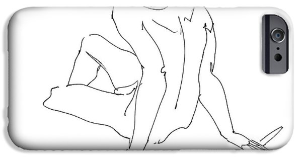 Male Nude Drawing Drawings iPhone Cases - Naked-Men-Art-15 iPhone Case by Gordon Punt