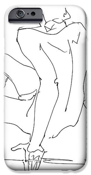 Naked-Men-Art-15 iPhone Case by Gordon Punt