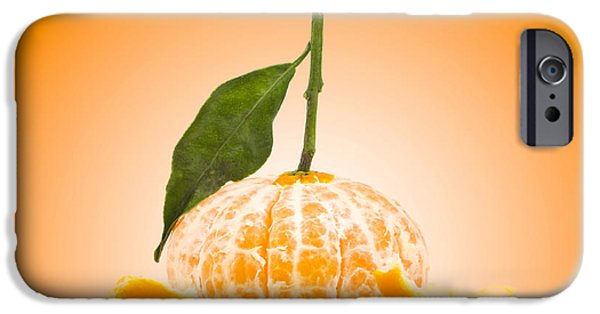 Concept Photographs iPhone Cases - Naked Orange iPhone Case by Wim Lanclus