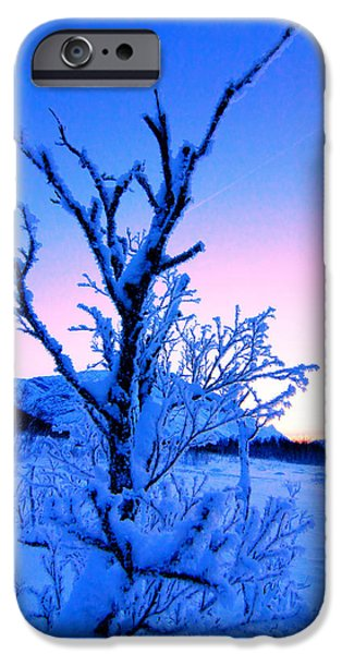 Norway Pyrography iPhone Cases - Nakkedalen last light  iPhone Case by Tom Vooght