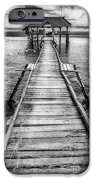 Pier Digital Art iPhone Cases - Nalusuan Pier iPhone Case by Adrian Evans