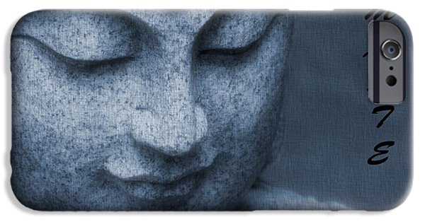 Human Spirit iPhone Cases - Namaste Buddha iPhone Case by Dan Sproul