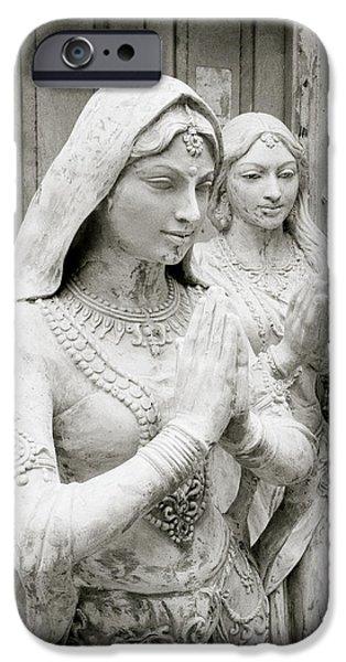 Hindu Goddess iPhone Cases - Namaste iPhone Case by Shaun Higson