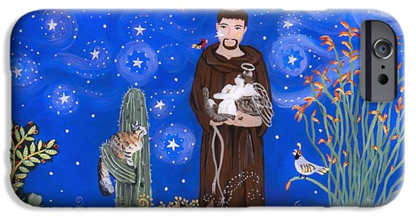Night Angel iPhone Cases - Nancys St. Francis iPhone Case by Sue Betanzos