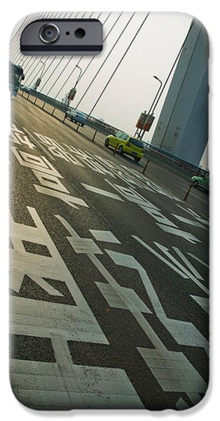 Connection iPhone Cases - Nanpu Bridge Over The Huangpu River iPhone Case by Panoramic Images