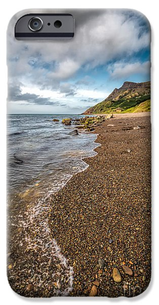 Walkway Digital iPhone Cases - Nant Gwrtheyrn Shore iPhone Case by Adrian Evans