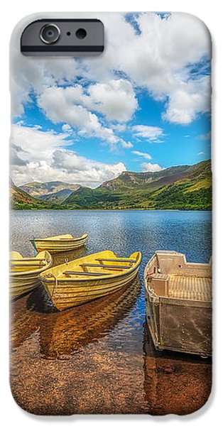 Nantlle Lake iPhone Case by Adrian Evans