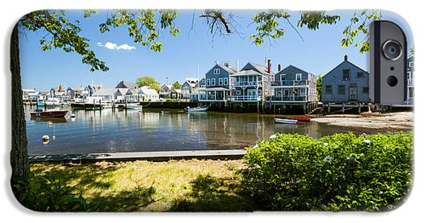Nantucket iPhone Cases - Nantucket Homes By the Sea iPhone Case by Michelle Wiarda