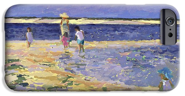 Summer iPhone Cases - Nantucket Oil On Canvas iPhone Case by Sarah Butterfield