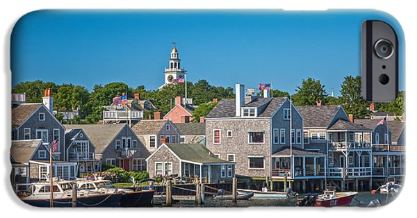 Recently Sold -  - Small iPhone Cases - Nantucket Town iPhone Case by Susan Cole Kelly