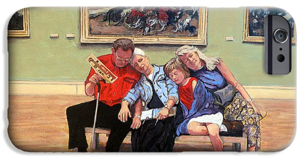 Royal Family Arts iPhone Cases - Nap Time at the Louvre iPhone Case by Tom Roderick