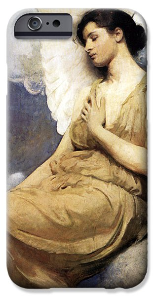 Angel Blues iPhone Cases - Nap Time iPhone Case by Munir Alawi