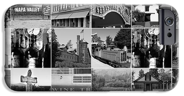 Solano iPhone Cases - Napa Sonoma County Wine Country 20140906 black and white iPhone Case by Wingsdomain Art and Photography