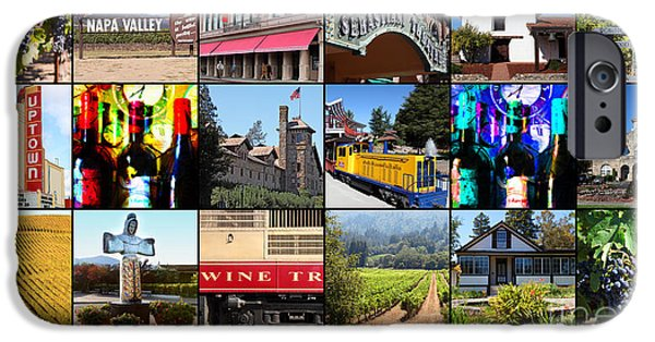 Solano iPhone Cases - Napa Sonoma County Wine Country 20140906 with text iPhone Case by Wingsdomain Art and Photography