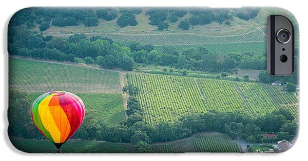 Napa Photographs iPhone Cases - Napa Valley Aloft iPhone Case by Steve Gadomski