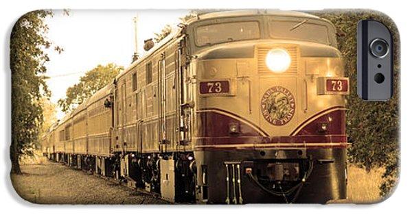Red Wine iPhone Cases - Napa Wine Train iPhone Case by Jon Neidert