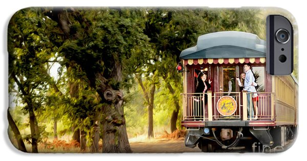 Napa Photographs iPhone Cases - Napa Wine Train Painting iPhone Case by Jon Neidert