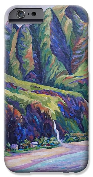 North Sea Paintings iPhone Cases - Napali Coast Evening Colours iPhone Case by John Clark