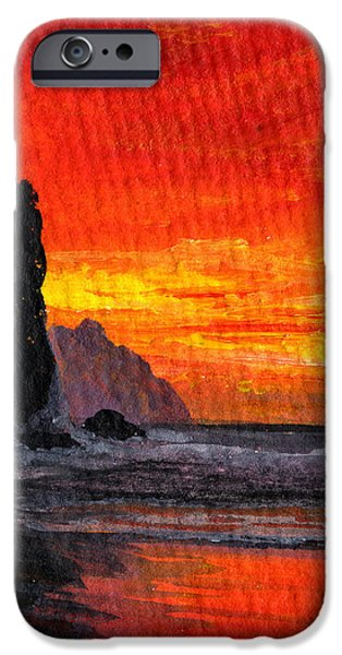 Aceo iPhone Cases - Napali  iPhone Case by Darice Machel McGuire