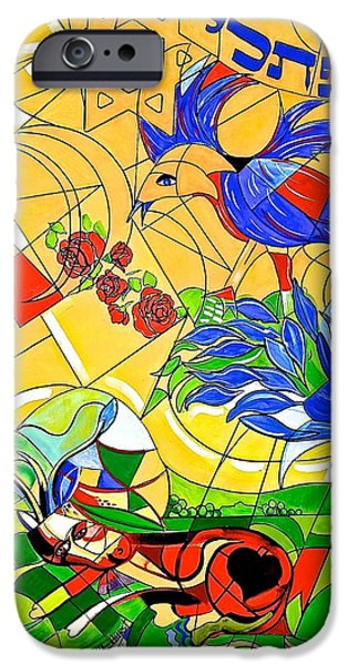 Boardroom Mixed Media iPhone Cases - Naphtali iPhone Case by Susan Robinson