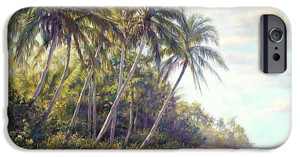 Beach Landscape Paintings iPhone Cases - Naples Beach Access iPhone Case by Laurie Hein
