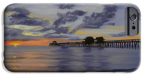 Recently Sold -  - Sea Birds iPhone Cases - Naples Pier Naples Florida iPhone Case by Christine Hopkins