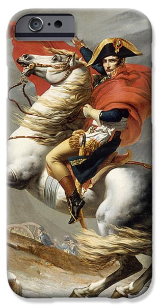 France iPhone Cases - Napoleon Bonaparte on Horseback iPhone Case by War Is Hell Store