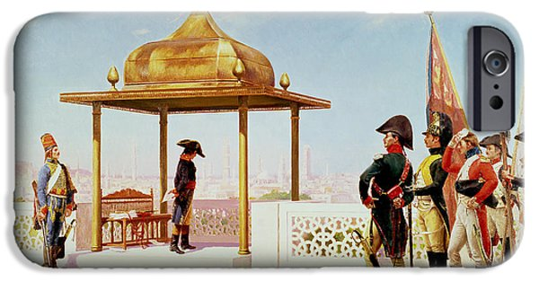 Campaign iPhone Cases - Napoleon In Cairo, 1798 iPhone Case by Gustave Bourgain